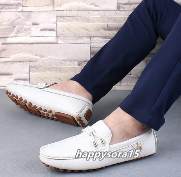 ローファー メンズ スリッポン ビジネス ドライビングシューズ 靴カジュアル 通気 夏用 ホワイト  26cm_画像5