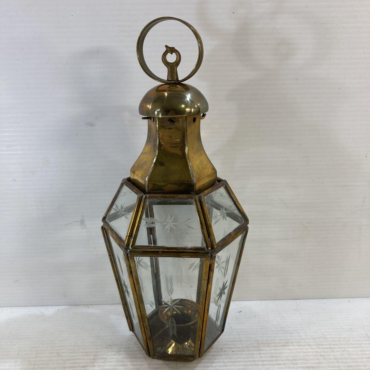 真鍮製 キャンドルスタンド ランプ ローソク立て 照明 アンティーク レトロ インテリア オブジェ 状態込み 現状品