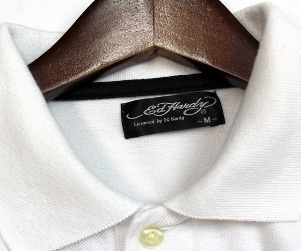 エドハーディー Ed Hardy スカル×ロゴプリント 半袖ポロシャツ サイズM 0714c_画像4