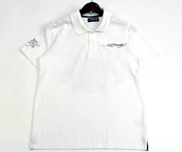 エドハーディー Ed Hardy スカル×ロゴプリント 半袖ポロシャツ サイズM 0714c_画像1