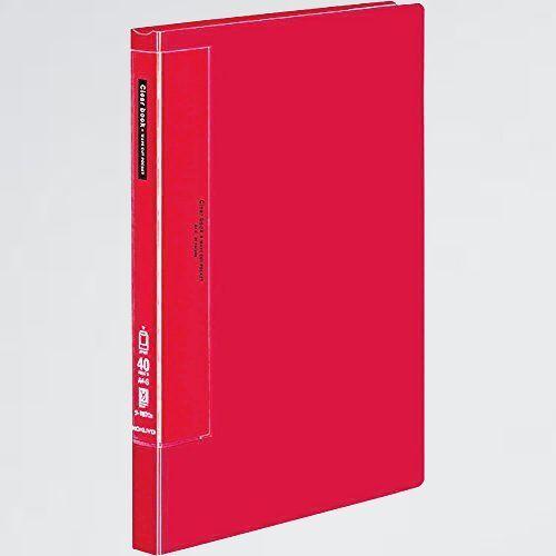 新品 未使用 ファイル コクヨ S-NU ラ-T570R ラ-T570R クリアファイル ウェ-ブカットA4 40ポケット 赤_画像1
