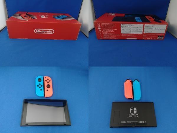 Nintendo Switch ニンテンドースイッチ Joy-Con(L) ネオンブルー/(R) ネオンレッド(HADSKABAA)(バッテリー拡張モデル)_画像3