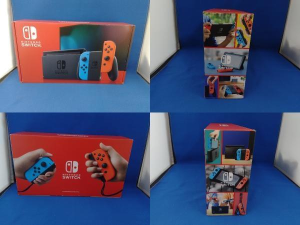 Nintendo Switch ニンテンドースイッチ Joy-Con(L) ネオンブルー/(R) ネオンレッド(HADSKABAA)(バッテリー拡張モデル)_画像2