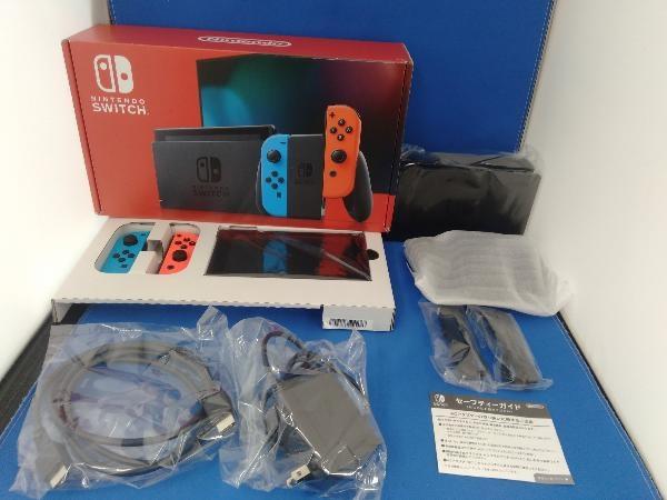 Nintendo Switch ニンテンドースイッチ Joy-Con(L) ネオンブルー/(R) ネオンレッド(HADSKABAA)(バッテリー拡張モデル)_画像1
