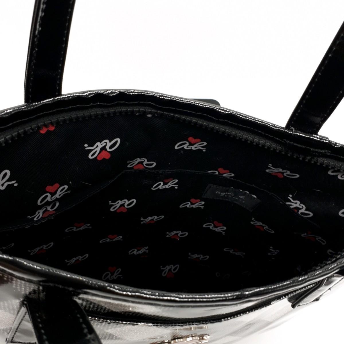agnes b. アニエスベーボヤージュ チェック柄 バッグ 収納袋付き