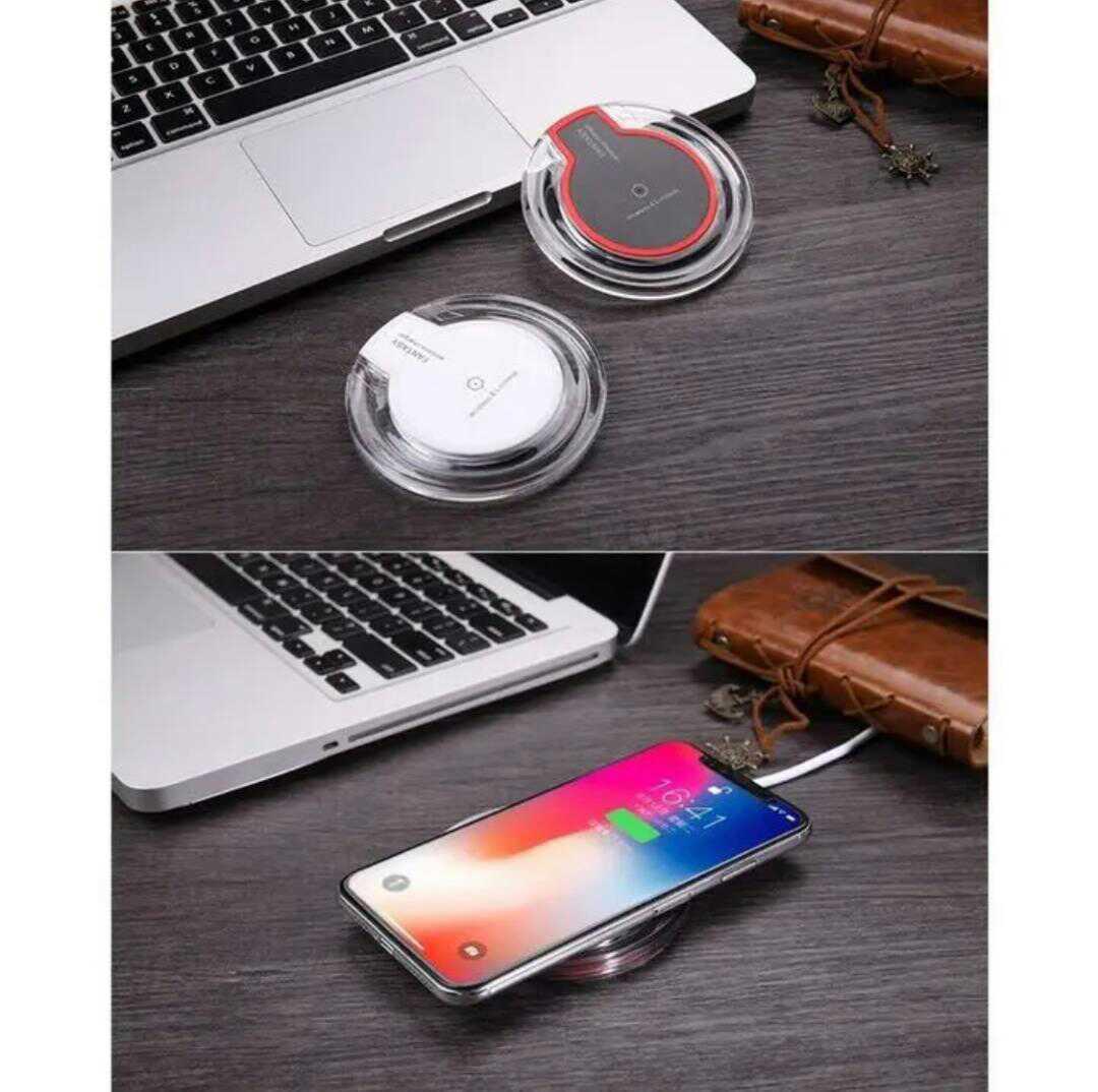 ワイヤレス充電器 置くだけ充電 Qi規格 android iPhone 黒_画像8