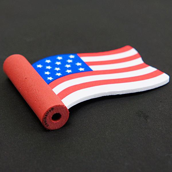 アメリカン ウェイビング フラッグ アンテナボール アンテナトッパー 車 目印 USA アメリカ 国旗 星条旗 アメ車 【メール便OK】_画像2