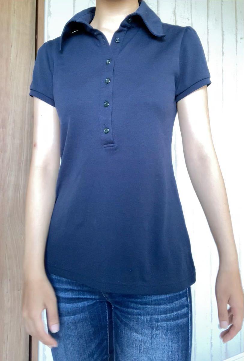 【紺色 ポロシャツ】