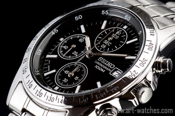 【1円開始】 セイコー 逆輸入 SEIKO タキメーター 新品 1/20秒 クロノグラフ 腕時計_画像1