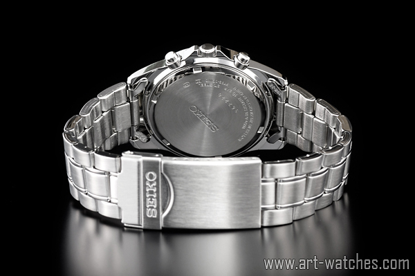 【1円開始】セイコー 海外モデル 逆輸入 ホワイトシルバー 新品 1/20秒 クロノグラフ 腕時計_画像3