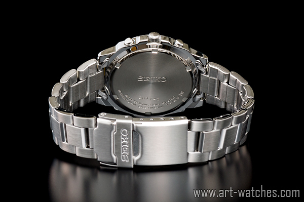 【1円開始】セイコー 海外 SEIKO 逆輸入 サファイアブルー 新品 クロノグラフ 腕時計_画像3