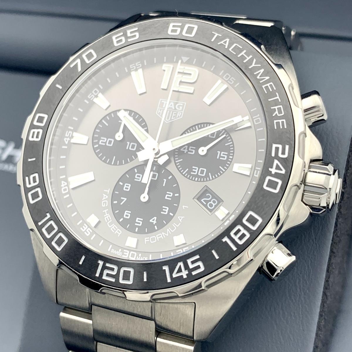 ☆1円~美品 タグホイヤー Tag Heuer フォーミュラー1 クロノグラフ ギャランティ CAZ1011 メンズ クオーツ 2020年購入 腕時計 CD28830111