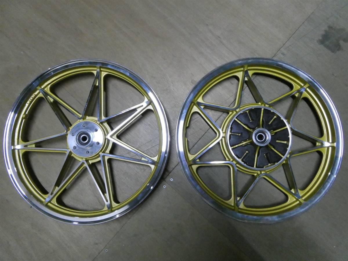 GS400 キャストホイール 金7 /社外 中古FR18インチ GS400Lキャスト GT380ナインキャストGSX400F GSX400EザリGSX250E BEET 外装 インパルス