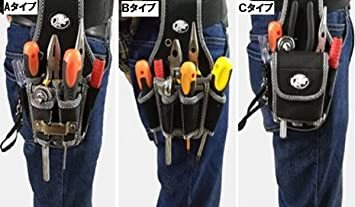 Aタイプ 工具袋 作業効率の良い機能設計 工具用ウエストバッグ 工具差し 大工 ポーチ腰袋 電工用 ベルトポーチ ツ_画像4