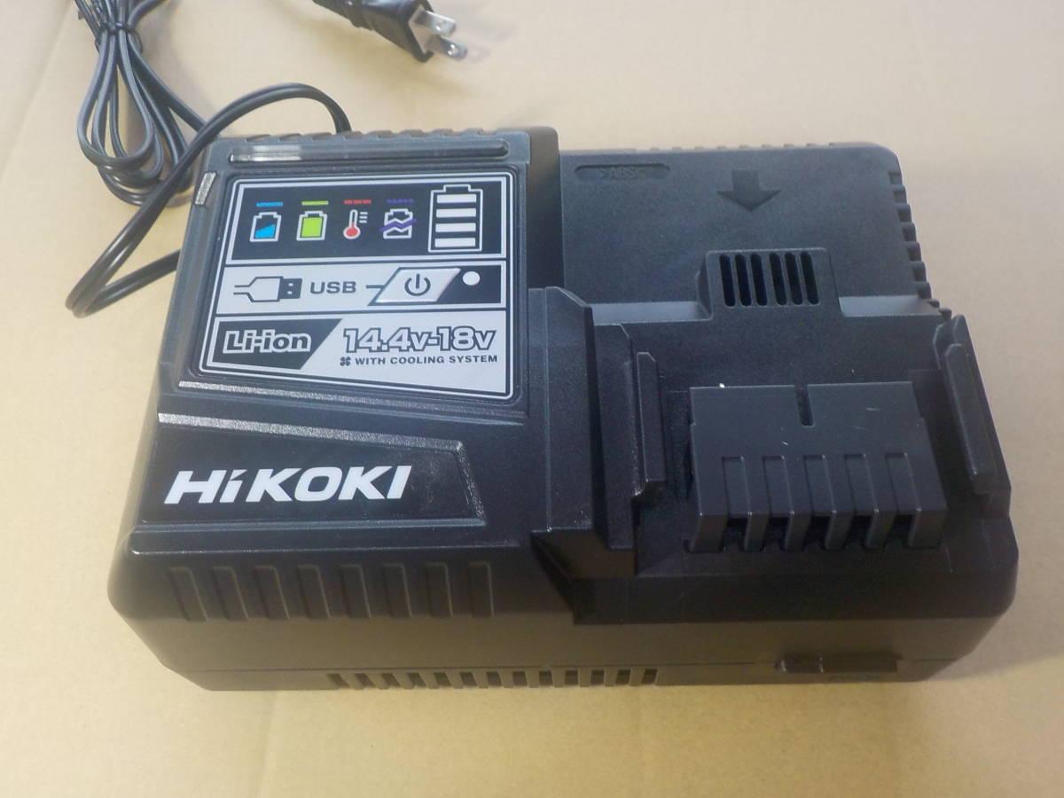 ¥1~売り切り新品 送料無料!ハイコーキ純正新品セット品からのバラシです 日立 HiKOKI 急速充電器 UC18YSL3 (14.4V~18V対応)