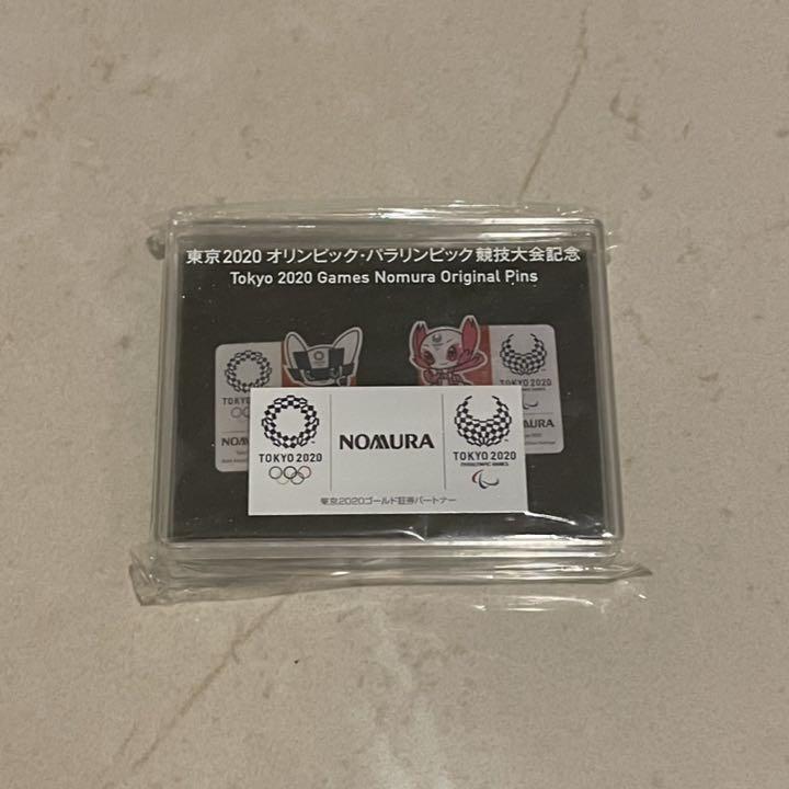 ◎野村証券 NOMURA 東京2020 オリンピック パラリンピック 関係者 配布品 非売品 ミライトワ&ソメイティ ピンバッジ ピンズ ピンバッチ