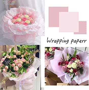 【本日限り】 ピンク 包装紙 薄い 35*50CM 梱包 ラッピングペーパー 100枚入 インナーラップに 薄葉紙 業務用 Su_画像4