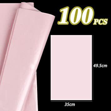 【本日限り】 ピンク 包装紙 薄い 35*50CM 梱包 ラッピングペーパー 100枚入 インナーラップに 薄葉紙 業務用 Su_画像2