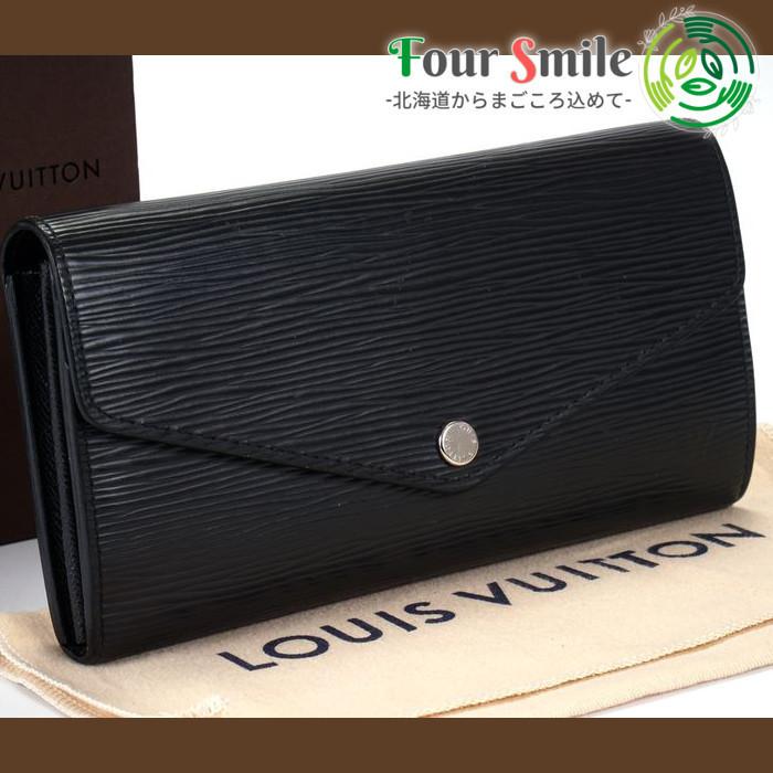 【極美品 新型】ルイヴィトン Louis Vuitton エピ ポルトフォイユ サラ 長財布 レディース メンズ 黒 定価約10万 4291