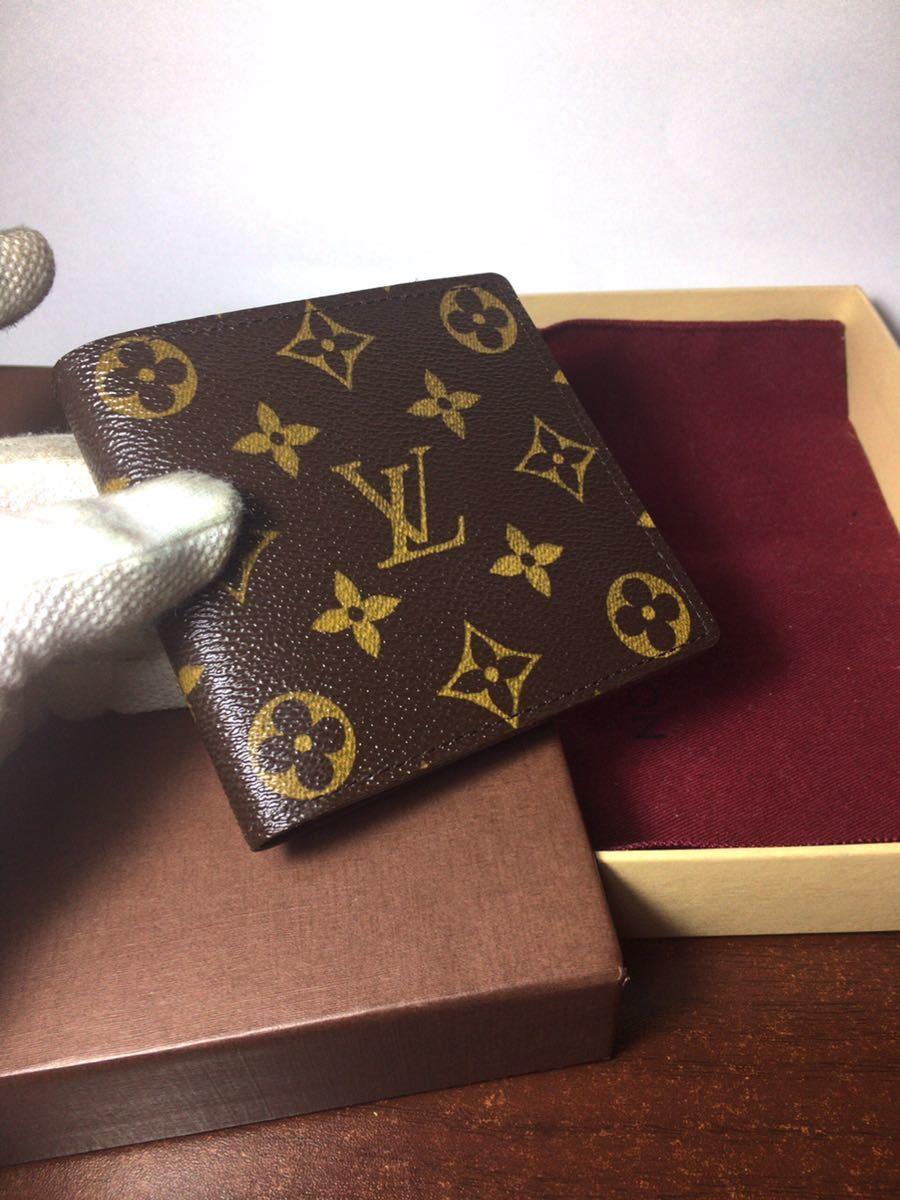 【正規品】ルイヴィトン ポルトフォイユ マルコ モノグラム 折財布 LOUIS VUITTON 2つ折り財布