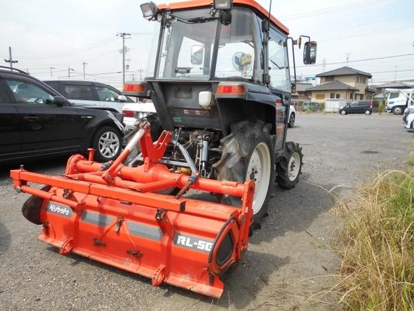 愛知県 名古屋市 クボタ トラクター GL240 24馬力 1009h 4WD ロータリー キャビン ホーン ライト 貿易 輸出 直 N5695487_画像2