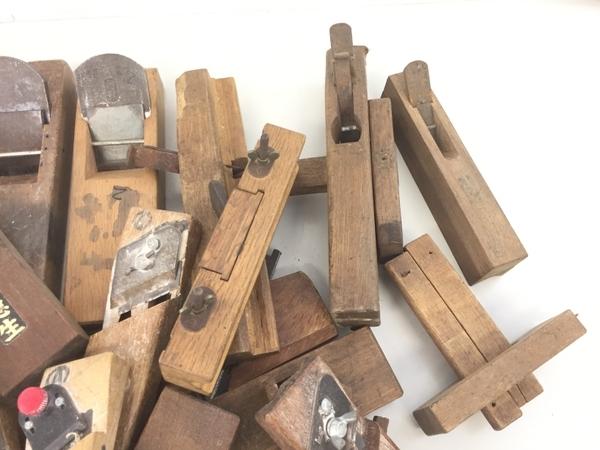 【1円】メーカー不明 鉋 かんな DIY 大工道具 おまとめ セット ジャンク K5782528_画像3