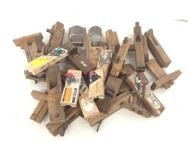 【1円】メーカー不明 鉋 かんな DIY 大工道具 おまとめ セット ジャンク K5782528_画像1