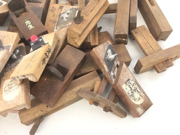 【1円】メーカー不明 鉋 かんな DIY 大工道具 おまとめ セット ジャンク K5782528_画像5