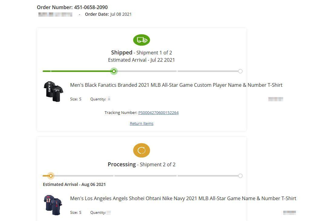 2021 MLB オールスター エンゼルス 大谷翔平 Tシャツ Sサイズ FANATICS製 黒色① _画像3