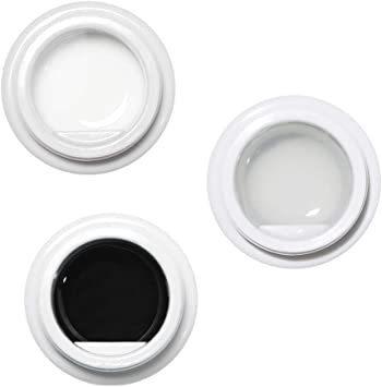 クリア&ホワイト&ブラック ジェルネイル アイシングジェル アートジェル カラージェル ネイルアート UV・LED対応 3色入り_画像1
