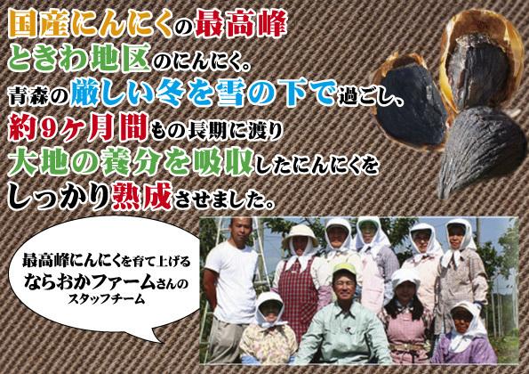 熟成 黒にんにく(ニンニク)100g×3 青森県産ホワイト6片種使用_画像2