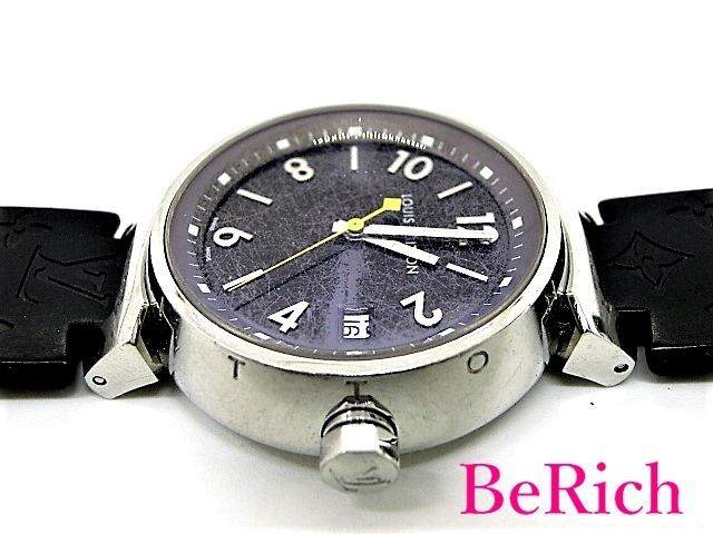 ルイ ヴィトン Q1311 タンブール レディース 腕時計 デイト 100m防水 クォーツ QZ SS/ラバー ブラウン文字盤【中古】【送料無料】mk2310_画像9