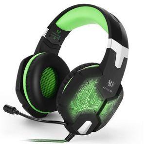 S50 ゲーミングステレオヘッドホン ゲーム ヘッドセット 高音質 マイク LEDライト 手元コントローラー 快適装着 グリーン/緑 PC/PS4/XBOX_画像1