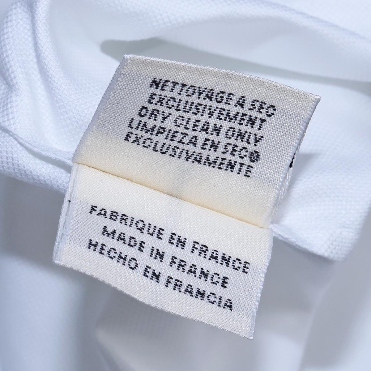 本物 エルメス 極希少 マルジェラ期 シェル釦 ポケット付きノースリーブシャツ サイズ36 ホワイト トップス ベスト ブラウス HERMES_画像8
