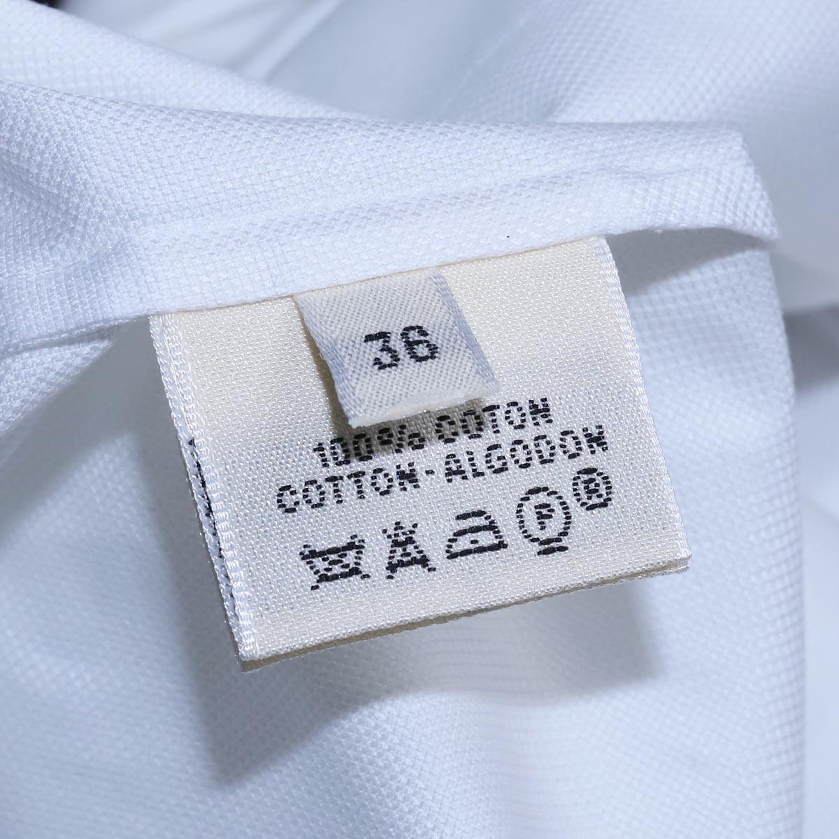 本物 エルメス 極希少 マルジェラ期 シェル釦 ポケット付きノースリーブシャツ サイズ36 ホワイト トップス ベスト ブラウス HERMES_画像7