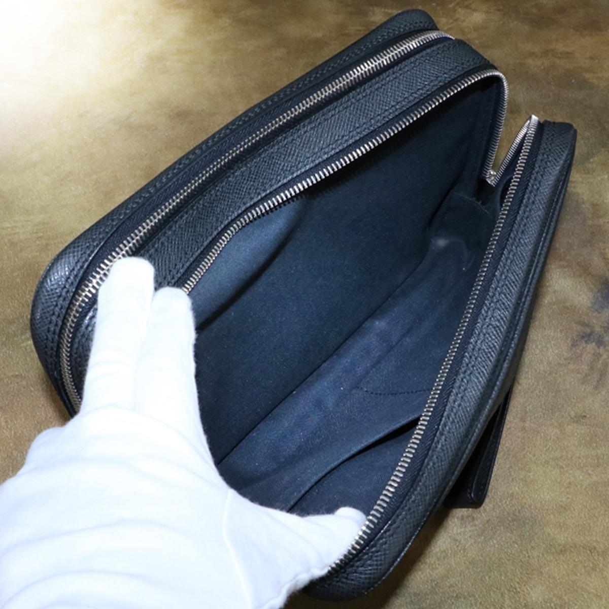 本物 極上品 ルイヴィトン タイガレザー カサイ メンズセカンドバッグ アルドワーズ SV金具 ストラップ付きクラッチバッグ LOUIS VUITTON_画像8
