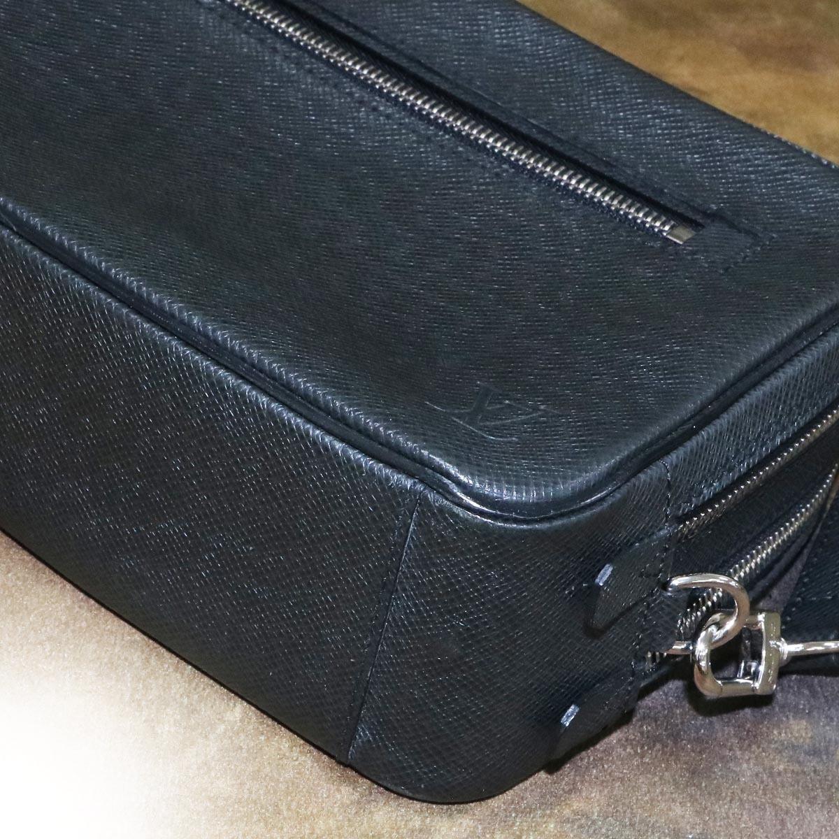 本物 極上品 ルイヴィトン タイガレザー カサイ メンズセカンドバッグ アルドワーズ SV金具 ストラップ付きクラッチバッグ LOUIS VUITTON_画像7