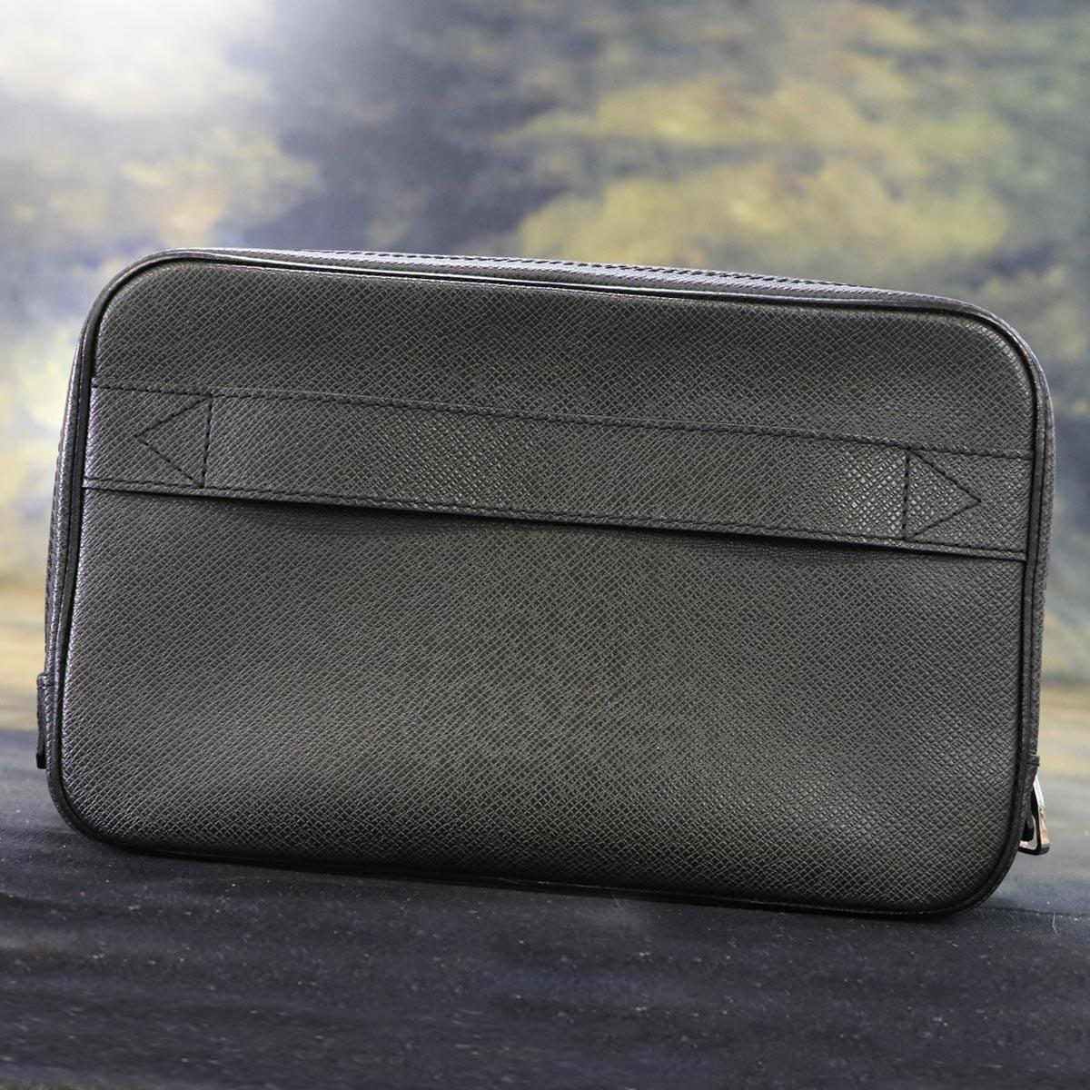本物 極上品 ルイヴィトン タイガレザー カサイ メンズセカンドバッグ アルドワーズ SV金具 ストラップ付きクラッチバッグ LOUIS VUITTON_画像3