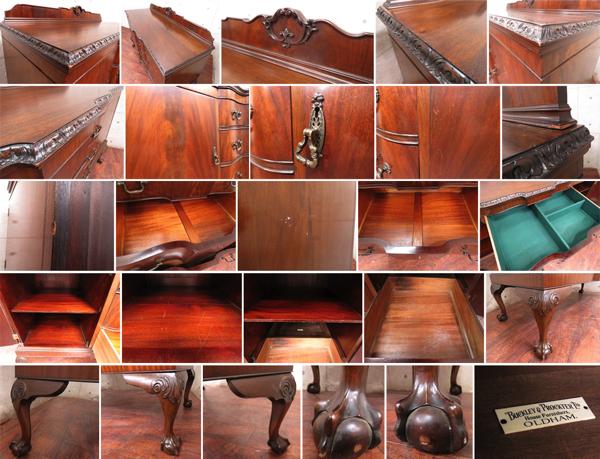 ■美品■Lloyd's Antiques/ロイズアンティークス■英国最高級■Real Antique■BUCKLEY&PROCKTER■マホガニー■サイドボード/50万/sww6288t_画像3