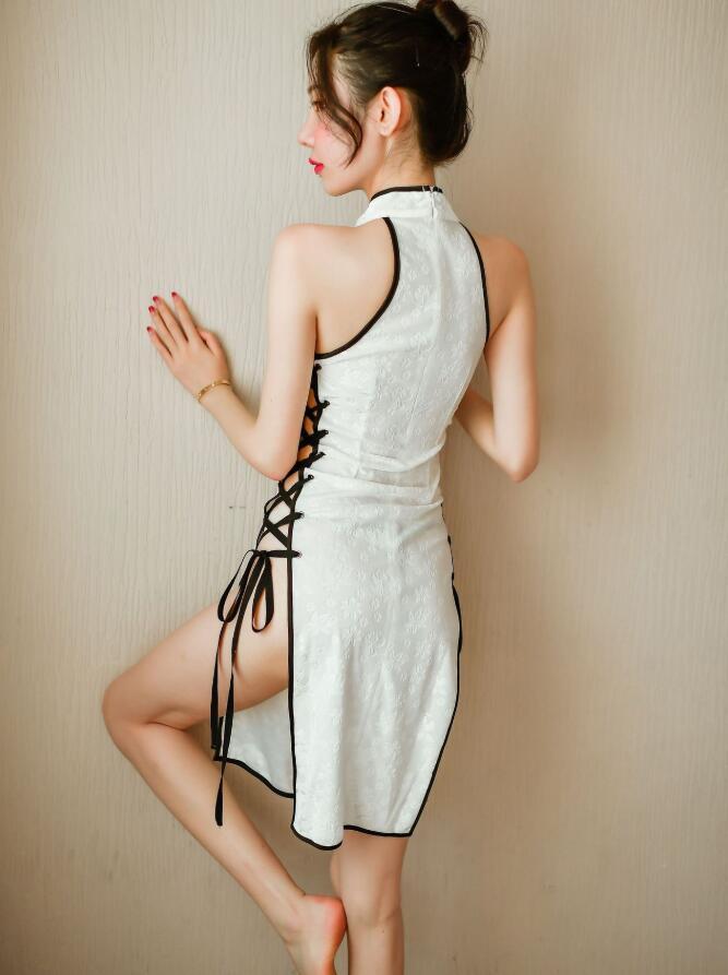夏新作 上質大人超セクシー チャイナドレス風 ワンピース 制服誘惑 ベビードール勝負下着 コスプレ衣装 コスチューム_画像5