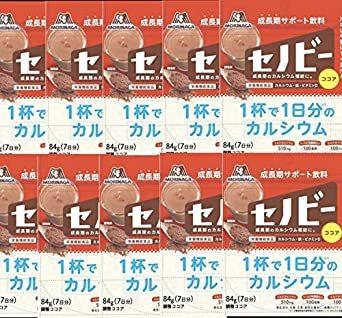 森永製菓 セノビー 84g袋×10袋入 [栄養機能食品] 1杯で1日分のカルシウム_画像1