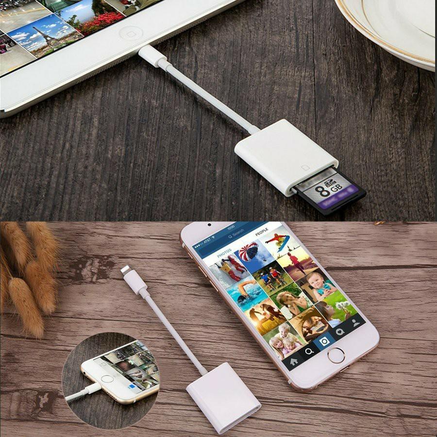 iPhone iPad 専用 Lightning SDカードカメラリーダー 最新 IOS14 対応 microメモリ