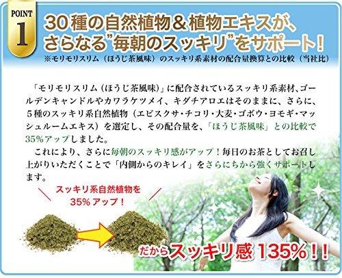 165g(5.5gティーバッグ×30包) ハーブ健康本舗 モリモリスリムプレミアム (ハト麦茶風味) 30包入り_画像4