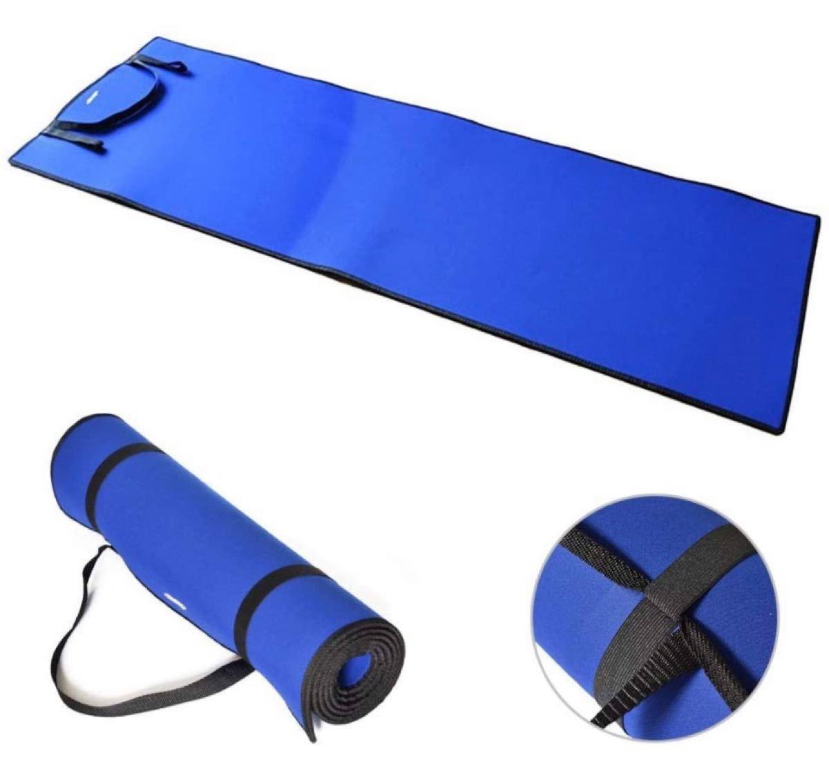 ヨガマット トレーニングマット エクササイズマット 厚み6mm 折り畳み