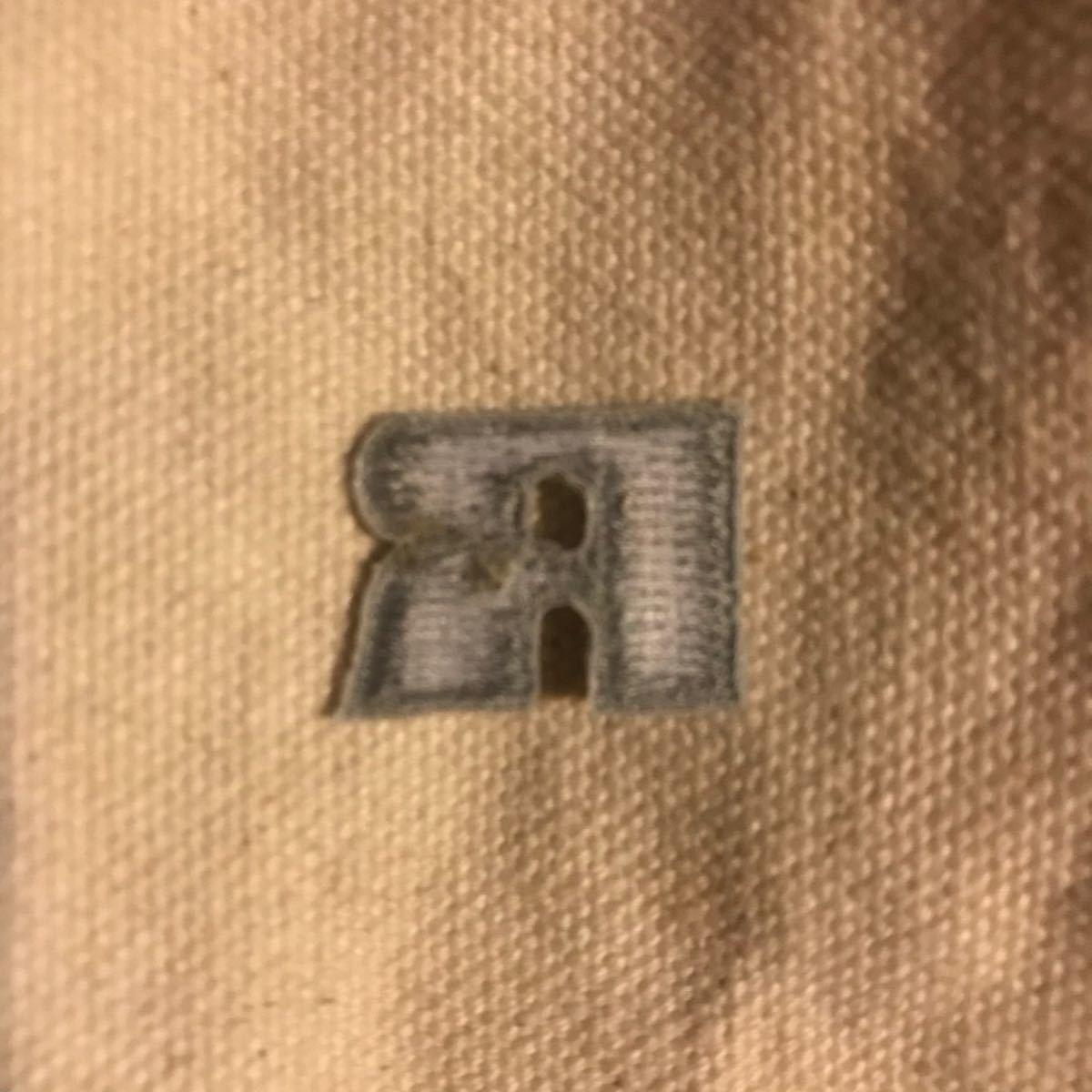 ワッペン ラッセルアスレチック アイロンワッペン RUSSEL ATHLETIC グレー 刺繍ワッペン ラッセルアスレティック
