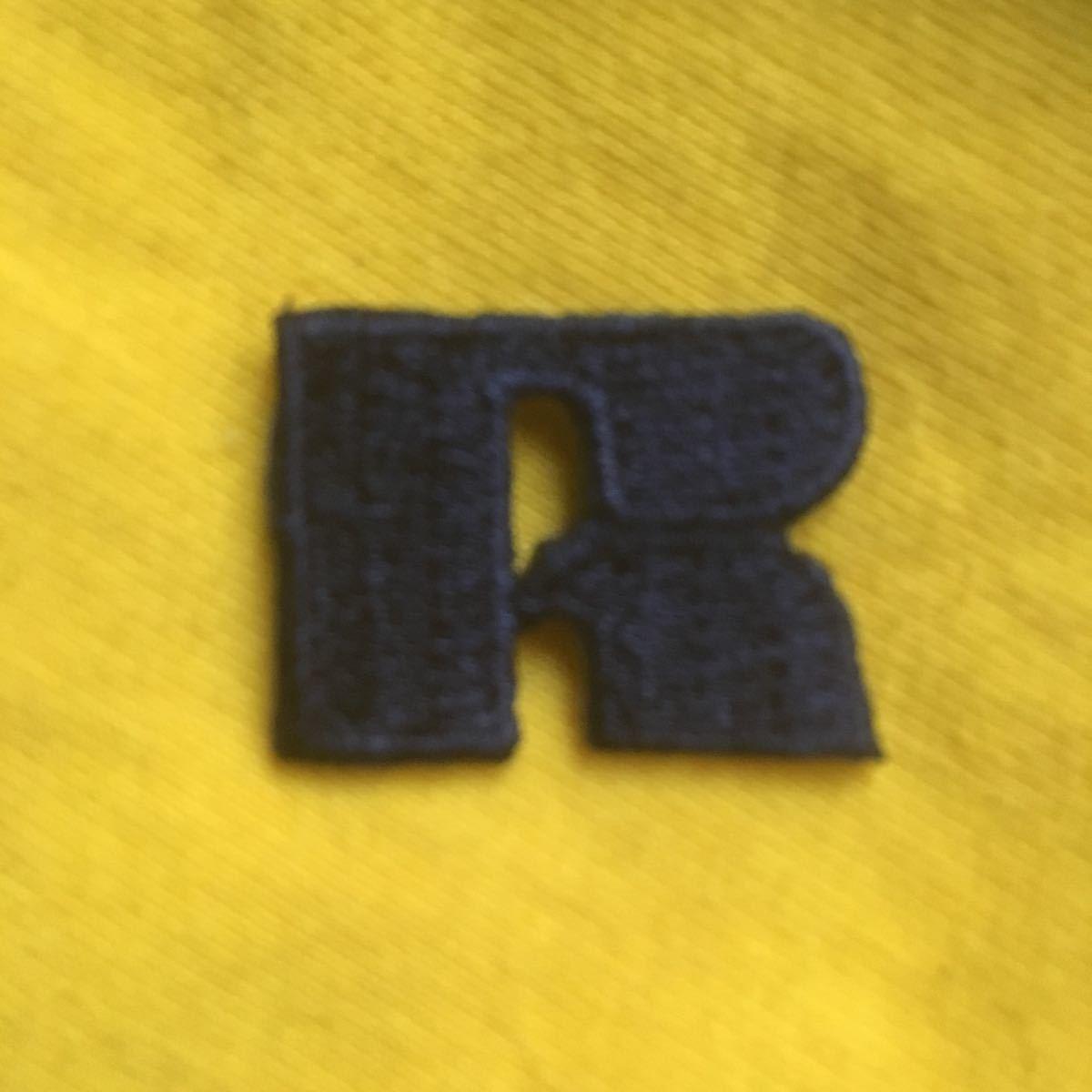 ワッペン ラッセルアスレチック アイロンワッペン RUSSEL ATHLETIC 濃紺 ほぼ黒