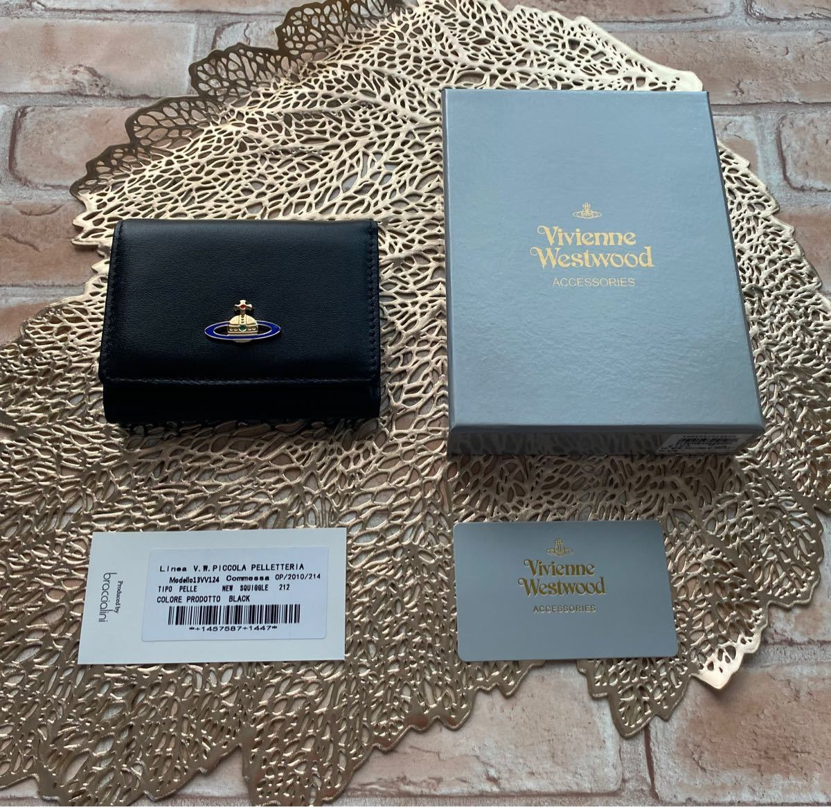 Vivienne Westwood ヴィヴィアンウエストウッド 三つ折り財布 黒