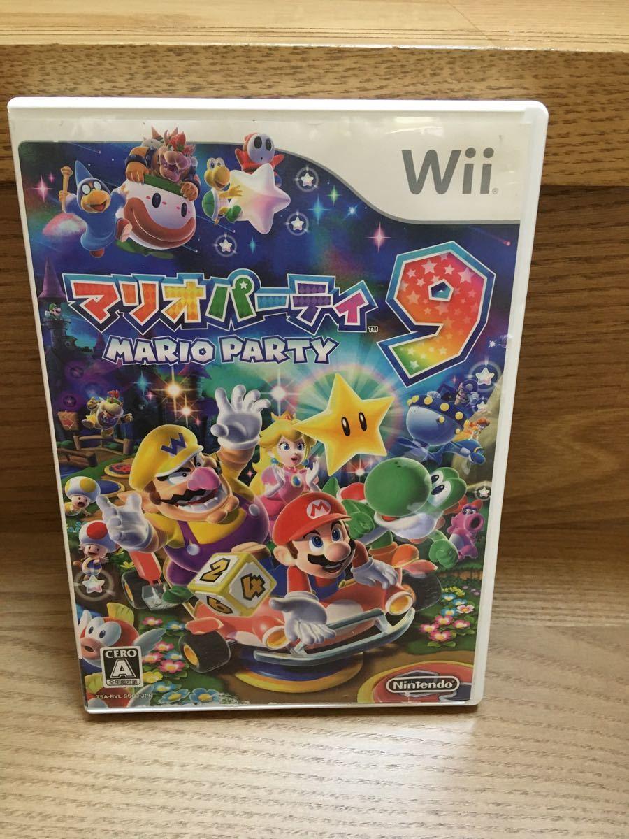 Wiiソフト 8本セット マリオカート ハンドル付き  マリオパーティ9 どうぶつの森など
