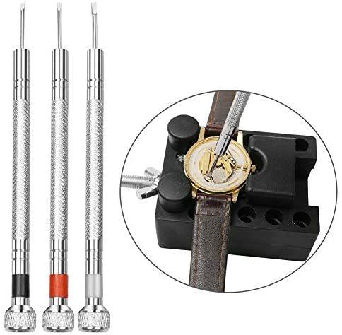 時計工具 時計修理 電池交換 腕時計ベルト調整 バンド調整 時計道具セット 時計用工具 収納便利 腕時計修理工具キット_画像7