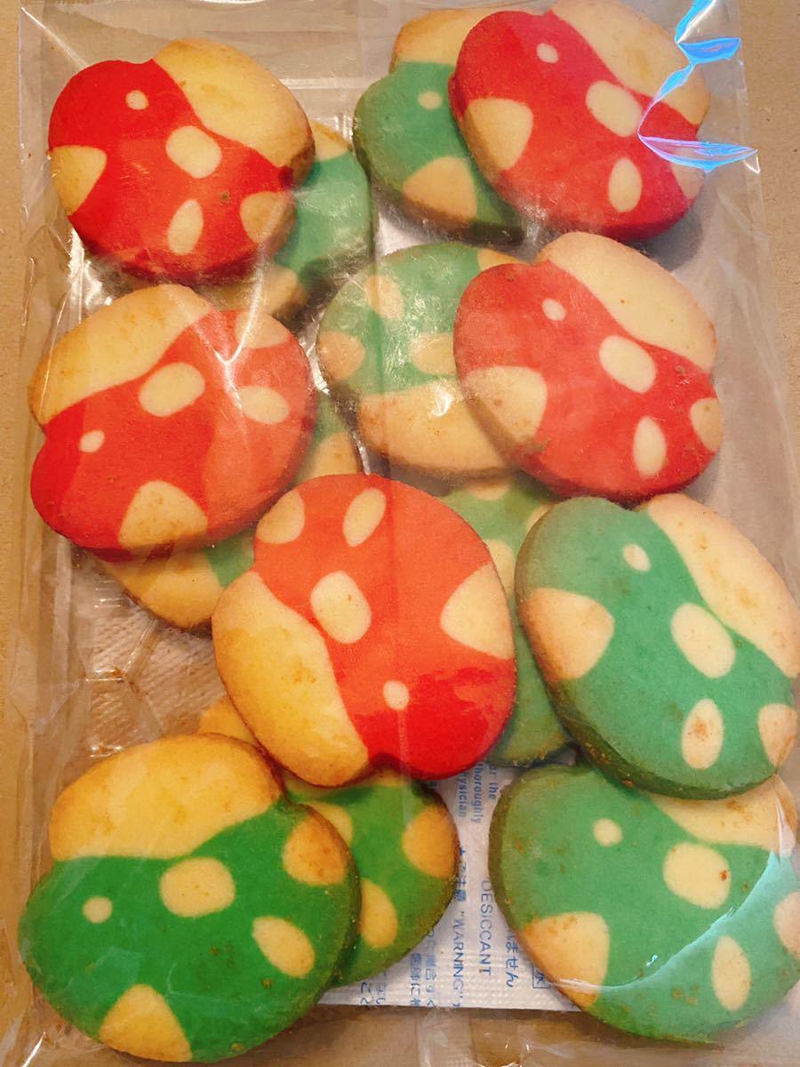 【 きのこ クッキー 2袋】 訳あり アウトレット 焼菓子 おやつ 夏休み キノコ かわいい 1up キャラクター ビスケット セット_画像3